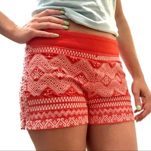 Anthro THML Embroidered High Waisted Shorts